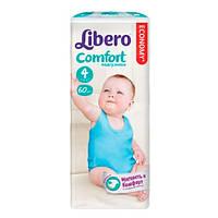 """Libero Comfort Maxi """"4"""" Детские подгузники (7-14 кг) 60 шт"""