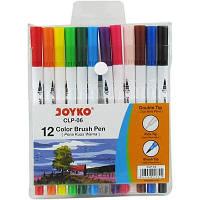 Фломастери двохсторонні joyko 12 кольорів CLP-06