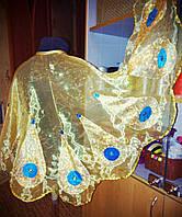 Жар-птица набор №2 (крылья+ головной убор ) из золотистой органзы р.110-116