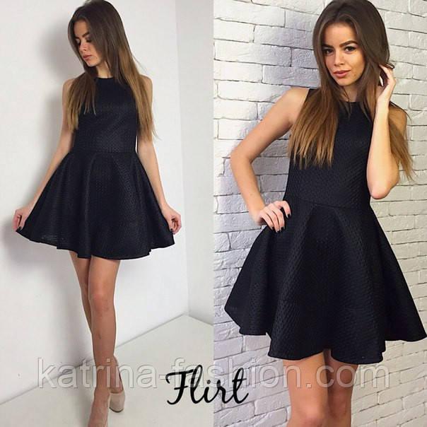 Черное платье с юбкой солнце