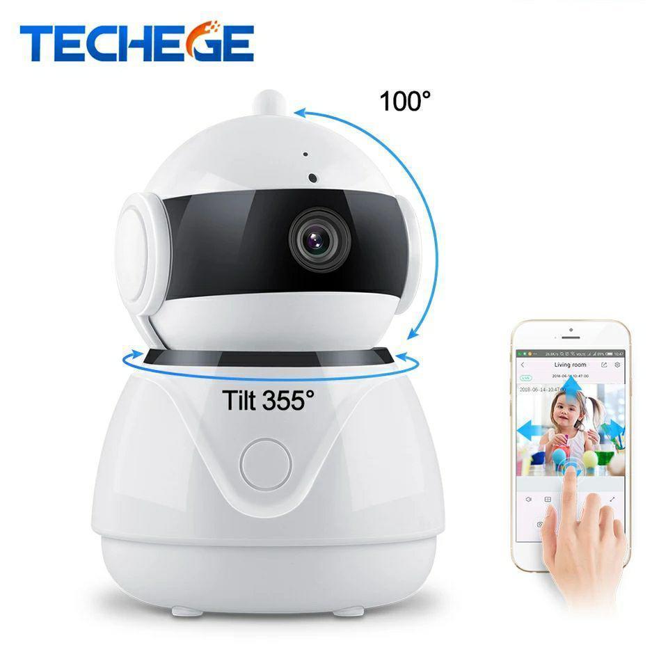 Поворотная Wi-Fi IP камера безопасности Techege C8 1080P.  Danale
