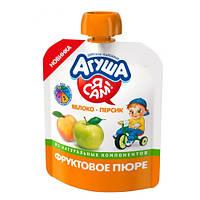 Агуша «Яблочно-персиковое» Фруктовое пюре 90 мл