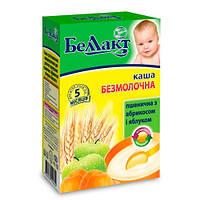 Беллакт «Пшеничная с абрикосом и яблоком» Каша безмолочная сухая быстрорастворимая для детского питания 250 г