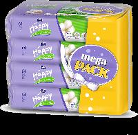 HAPPY Silk&Cotton салфетки 64шт х4