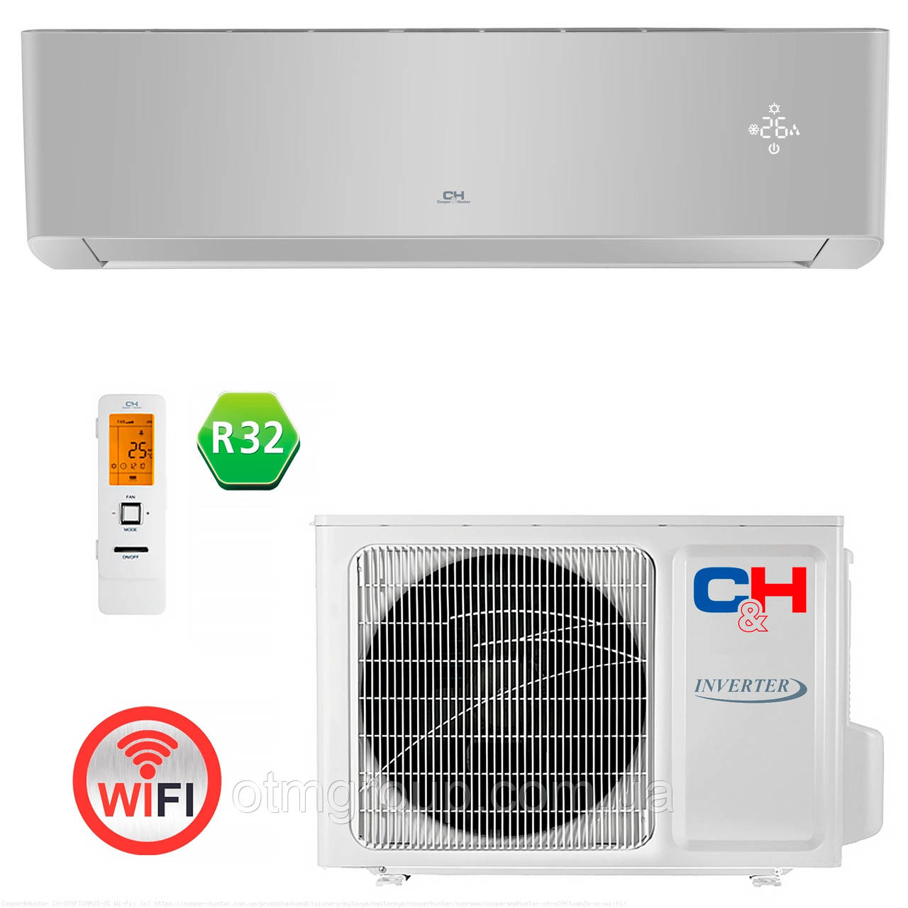 Кондиціонер Cooper&Hunter CH-S18FTXAM2S-SC Wi-Fi
