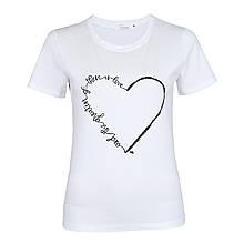 Футболка жіноча Lianara коттон Серце р. M, L, XL