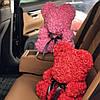 Мишка из 3D роз 40см в красивой подарочной упаковке мишка Тедди из роз оригинальный подарок, фото 8