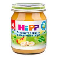HiPP «Бананы и персиками в яблочном пюре» Фруктовое пюре 125 г