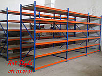 Стеллаж Металлический на склад или производство. 500-800 кг на полку