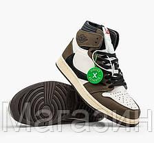 Мужские женские кроссовки Jordan 1 Retro Cactus Jack Travis Scott Джордан Кактус Джек Трэвис Скотт CD4487-100, фото 2