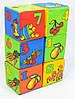 Розвиваючі м'які кубики набір 6 шт., цифри, п-во Україна