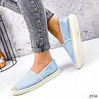 Женские голубые эспадрильи, обувной текстиль, фото 3