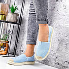 Женские голубые эспадрильи, обувной текстиль, фото 2