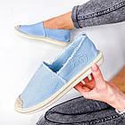 Женские голубые эспадрильи, обувной текстиль, фото 6