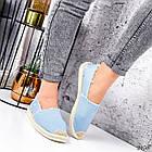 Женские голубые эспадрильи, обувной текстиль, фото 4