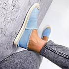 Женские голубые эспадрильи, обувной текстиль, фото 5