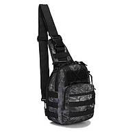 Сумка тактическая мужская на 7л через плечо, штурмовая, военная, армейская сумка рюкзак Oxford 600D (Питон)