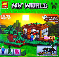 """Конструктор Lele My World 10176  """"Первая ночь"""" 408 дет, в коробке"""