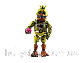 Фігурка кошмарного аніматроніка Чикка з гри П'ять Ночей з Фредді в індивідуальній упаковці ФНаФ 15см, фото 3