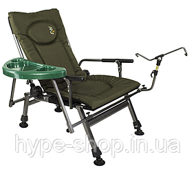 Крісло коропове new2020 Elektrostatyk F5R ST/P столиком та тримачем вудки