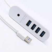 USB 3.0 хаб Разветвитель на 4 порта Юсб Концентратор HUB Удлинитель DL-3003, фото 1