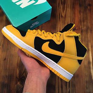 """Кроссовки Nike SB Dunk High Black/Varsity Maize """"Желтые/Черные"""", фото 2"""