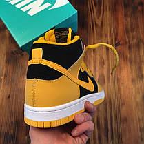 """Кроссовки Nike SB Dunk High Black/Varsity Maize """"Желтые/Черные"""", фото 3"""
