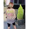 Стильная рубашка в клеточку Корея 8199#, фото 5