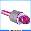 Мікрофон караоке Wester WS-858 - бездротової Bluetooth мікрофон для караоке з плеєром Рожевий, фото 2