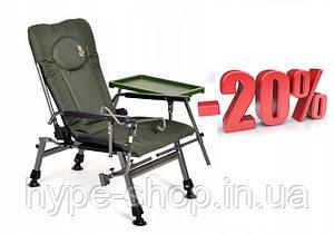 Крісло коропове Elektrostatyk F5R ST/P столиком та тримачем вудки Осінь/Зима 2020