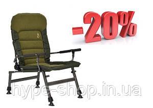 Крісло коропове рибальське 2020 Elektrostatyk FK6 комфортне. Навантаження 150кг/max