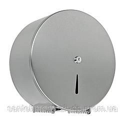 Диспенсер для бумаги круглый d22, тяговый, стальной, хром