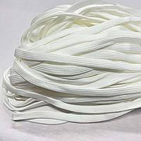 Шнурок 4х40 плоский полуэластичный 10 мм однотонный белый