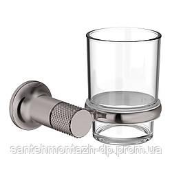 BRENTA стакан для зубных щеток, граф.хром