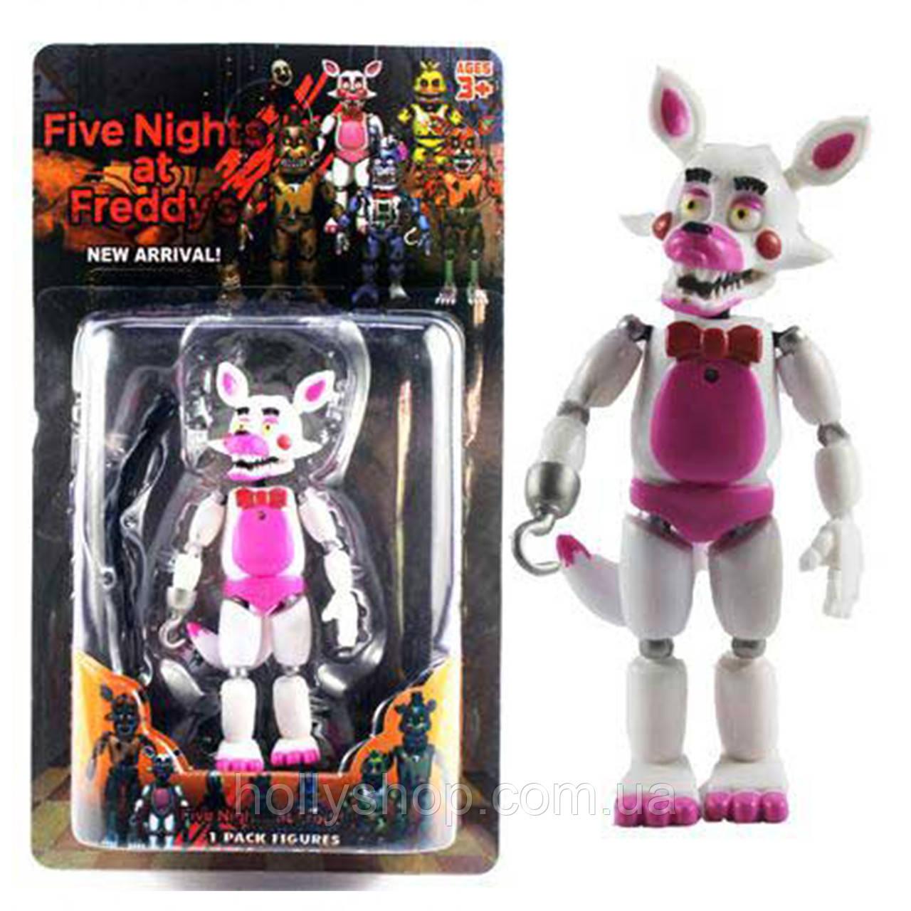 Фігурка кошмарного аніматроніка Мангл з гри П'ять Ночей з Фредді в індивідуальній упаковці ФНаФ 15см