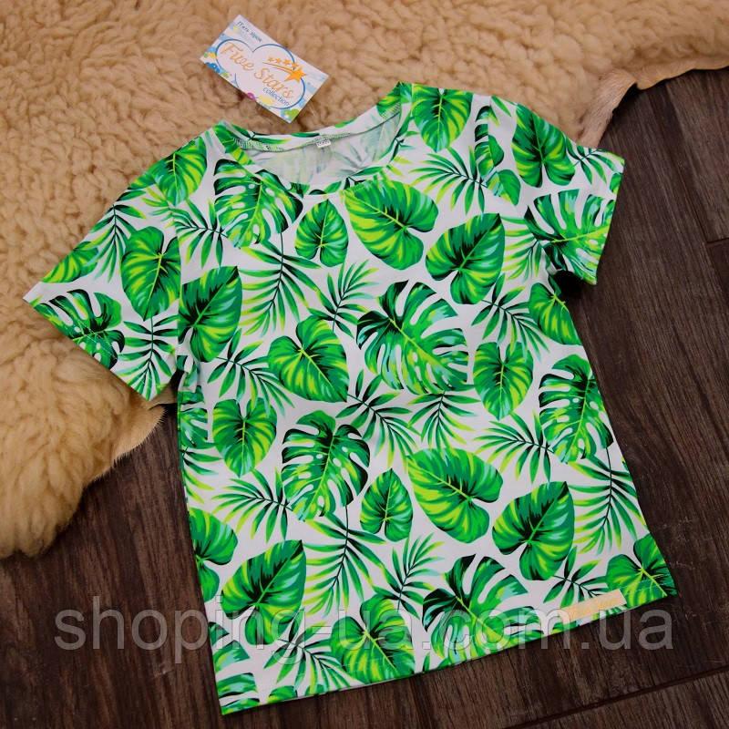 Детская футболка тропические листья Five Stars KD0431-134р
