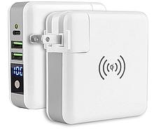 Беспроводное зарядное устройство Super Charger Евровилка (Type C Output+Wireless Powerbank 6700mAh)