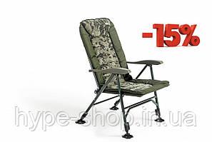 Кресло карповое Mivardi усилиное CamoCODE Quattro нагрузка 160кг