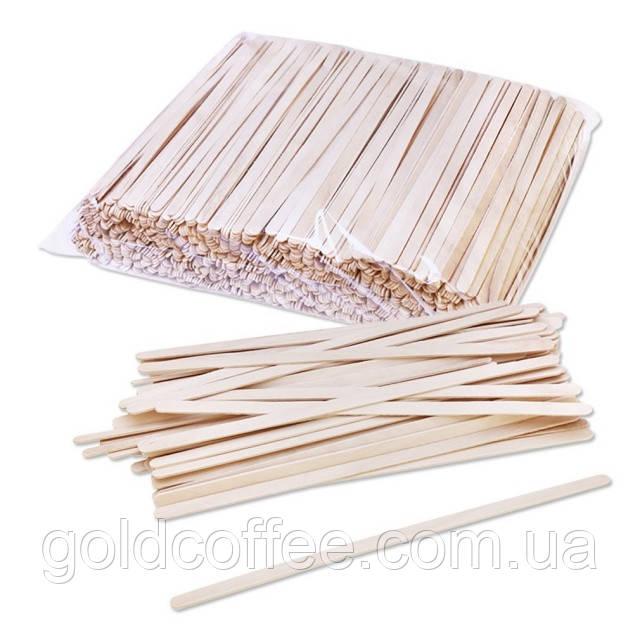 Дерев'яна одноразова мішалка (800шт)12-14см