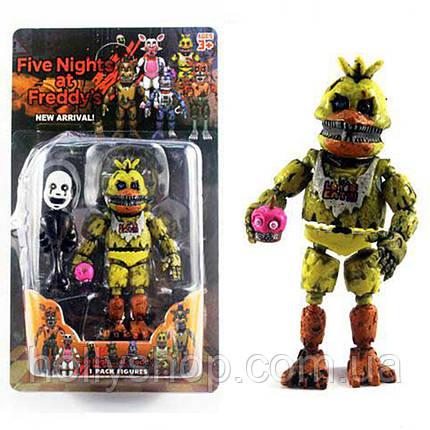 Фігурка кошмарного аніматроніка Чикка з гри П'ять Ночей з Фредді в індивідуальній упаковці ФНаФ 15см, фото 2