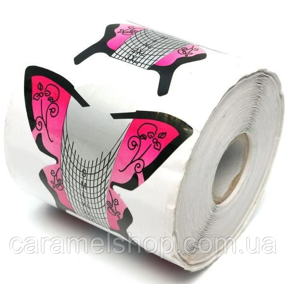 "Формы для наращивания ногтей ""Бабочка"" - рулон 300 шт. (8 * 7,5 см.)"