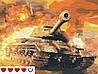 Картина по номерам Танк Т34 +ЛАК 40*50см Барви World of Tanks WoT Мир танков Panzer транспорт техника, фото 2