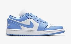 """Кросівки Nike Air Jordan Off-White Blue"""" (Блакитні), фото 2"""