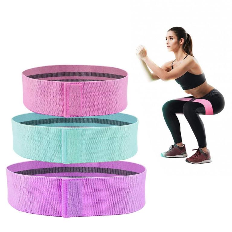 Набор тканевых фитнес резинок | Жгуты для спорта (3 штуки) Hip Resistance Bands