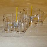 Набор для изготовления чайной свечи Цветочек (прозрачный контейнер чайной свечи, фиксатор фитиля, фитиль), фото 3