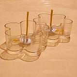 Набор для изготовления чайной свечи Цветочек (прозрачный контейнер чайной свечи, фиксатор фитиля, фитиль), фото 4