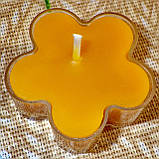 Набор для изготовления чайной свечи Цветочек (прозрачный контейнер чайной свечи, фиксатор фитиля, фитиль), фото 8
