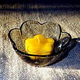 Набор для изготовления чайной свечи Цветочек (прозрачный контейнер чайной свечи, фиксатор фитиля, фитиль), фото 10