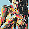 Картина по номерам Красочная красота девушки +ЛАК 40*40см Барви Топлес Ню, фото 2