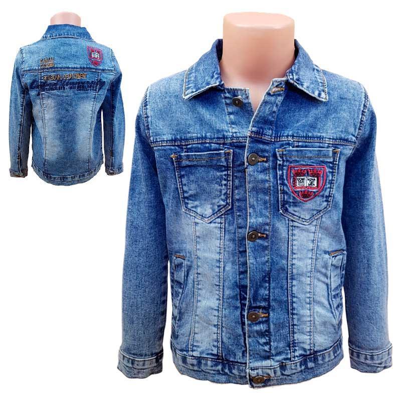 Піджак джинсовий для хлопчика 128-152 (8 - 12л.) Арт.8801